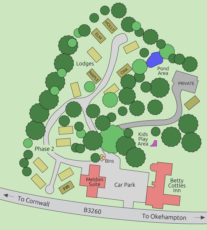 Meldon Park Map